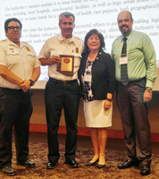The award was received by Ms. Amanda Aguirre, President and CEO of the RCBH/SLWIC, Chief Paul De Anda and Louie Carlos, Fire Inspector with the City of Somerton/Cocopah Fire Department, and Mr. Jesus Garcia, Quality Assurance Director with RCBH/SLWIC, during the 43rd Annual Arizona Rural Health Conference and 11th Annual Performance Improvement Summit, celebrated on July 26th and 27th, in Flagstaff, Arizona.